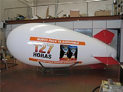Helium blimp for aerial filming